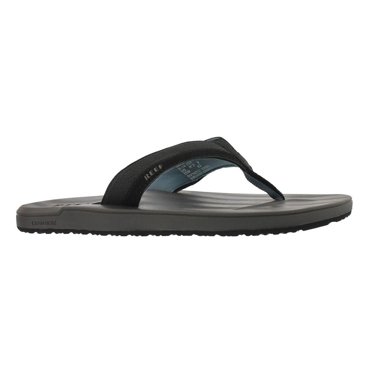 Men's COUTOURED CUSHION grey/blue thong sandal