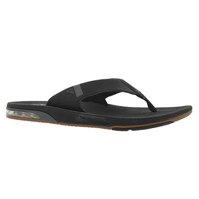 Mns Fanning 2.0 black thong sandal