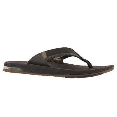 Mns Fanning 2.0 brown thong sandal