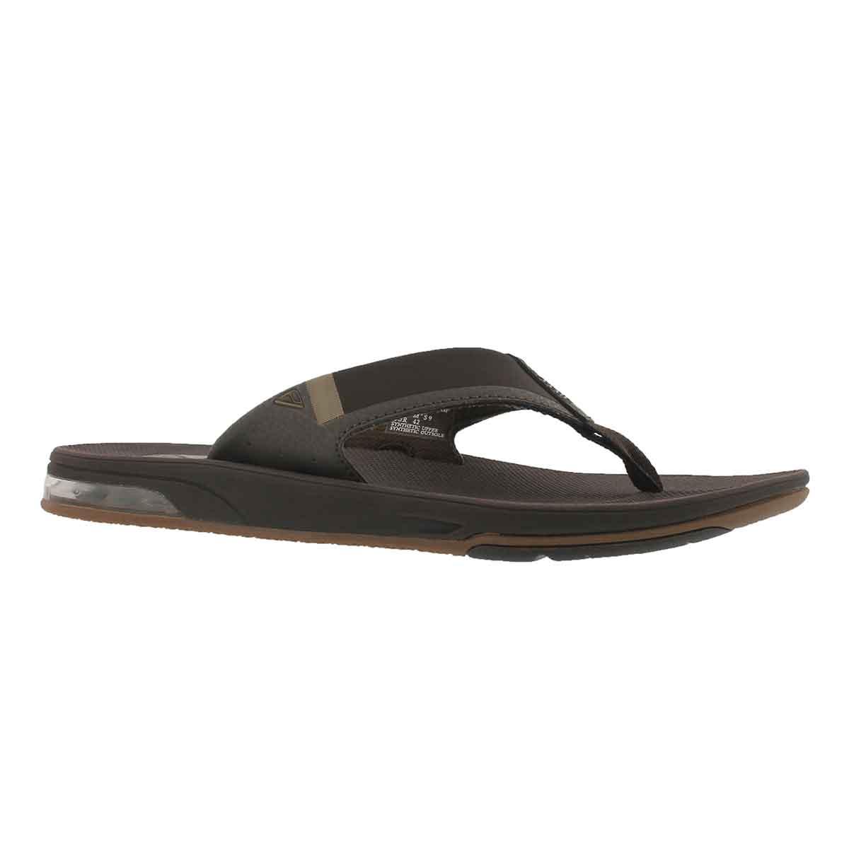 Men's FANNING 2.0 brown thong sandal
