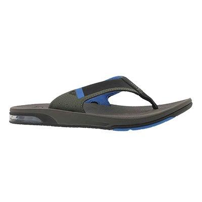 Mns Fanning 2.0 grey/blue thong sandal