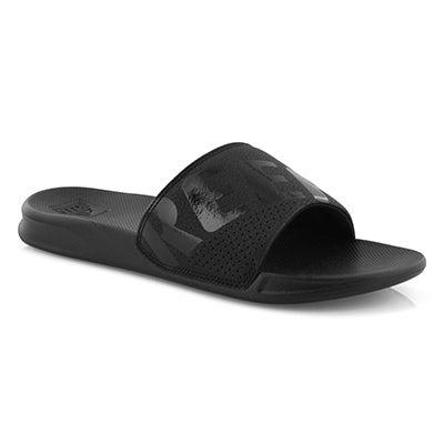 Mns Reef One all black slide sandal