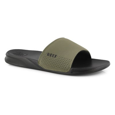 Mns Reef One black/olive slide sandal