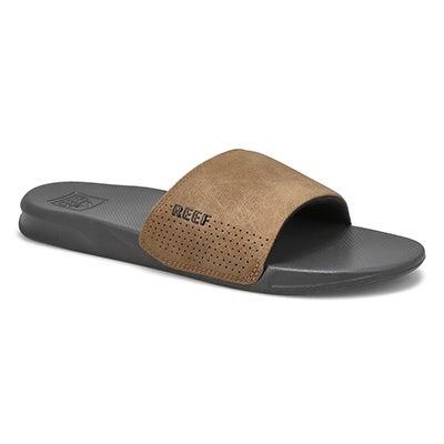 Mns Reef One grey/tan slide sandal
