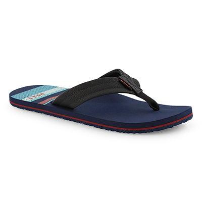 Mns Reef Waters navy stripe thong sandal