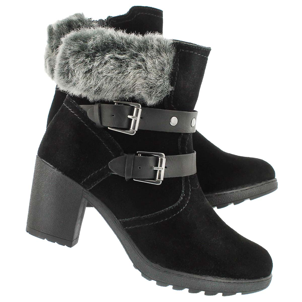 Bottes hiver hab. Riano, noir/gris, fem