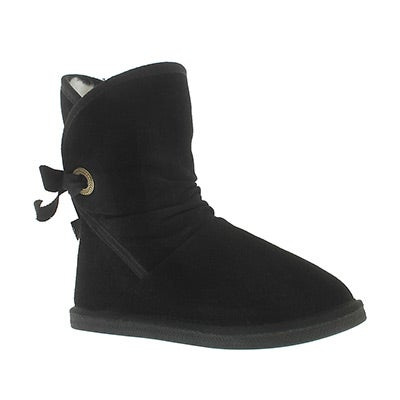 Grls Ribbon Jr black casual boot