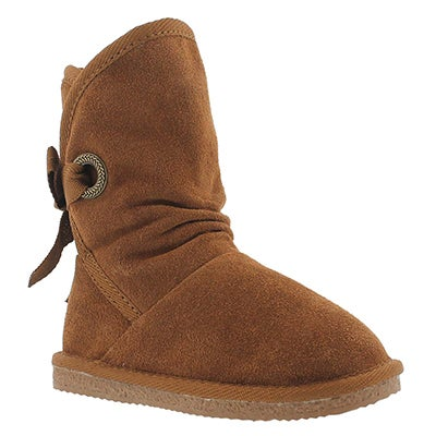 SoftMoc Girls' RIBBON JR chestnut casual boots
