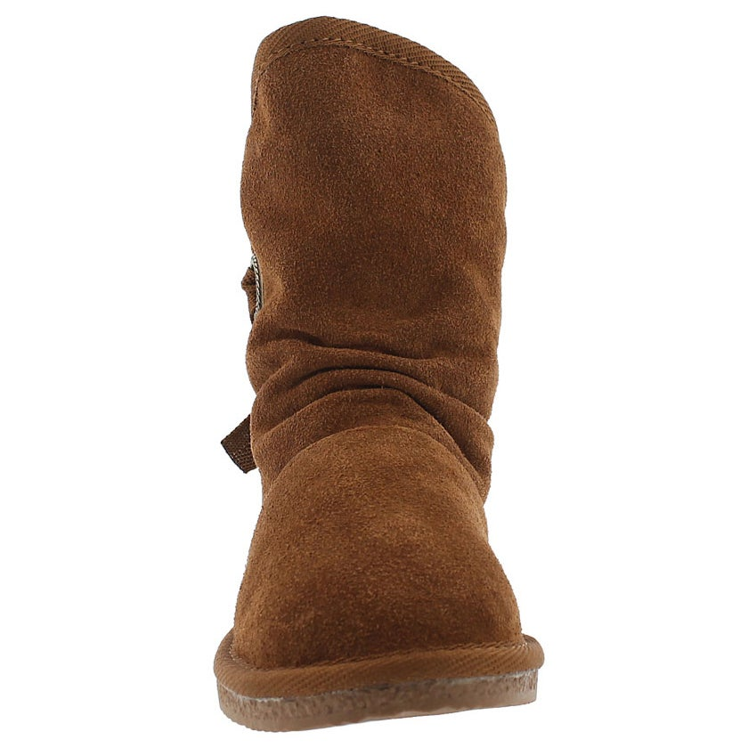 Grls Ribbon Jr chesnut casual boot