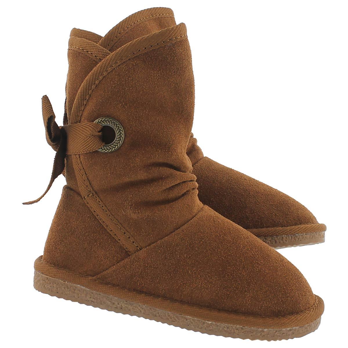 Grls Ribbon Jr chesnut casual boot