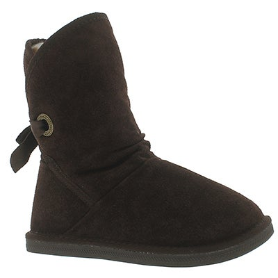 SoftMoc Botte décontractée chocolat RIBBON JR, filles