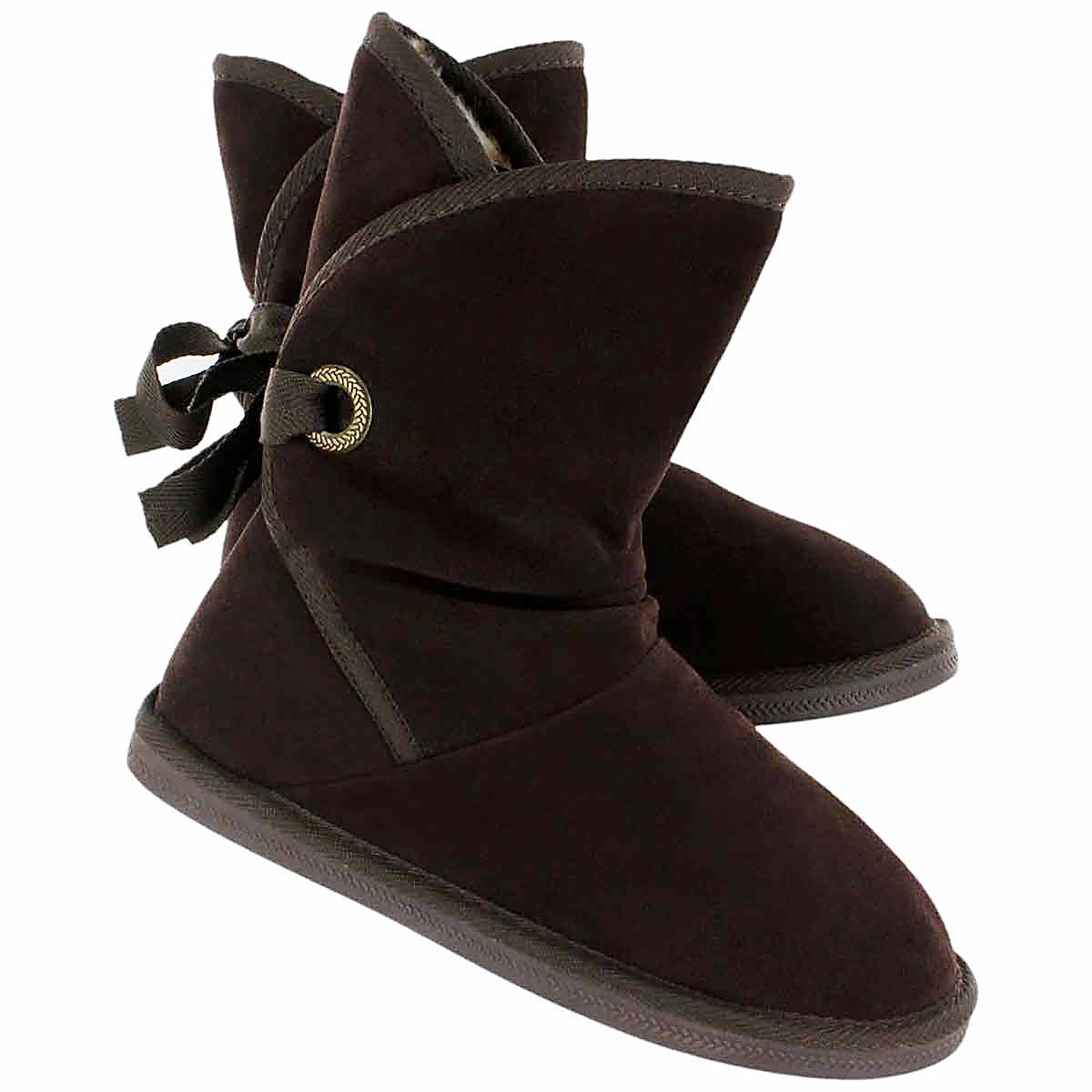 Grls Ribbon Jr chocolate casual boot