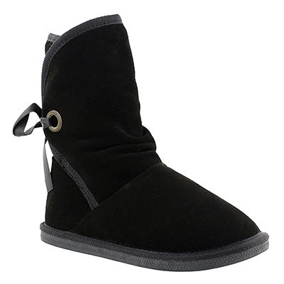 SoftMoc Women's RIBBON 2 black suede lined boots