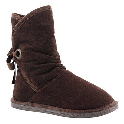 SoftMoc Women's RIBBON 2 choc brown suede lined boots