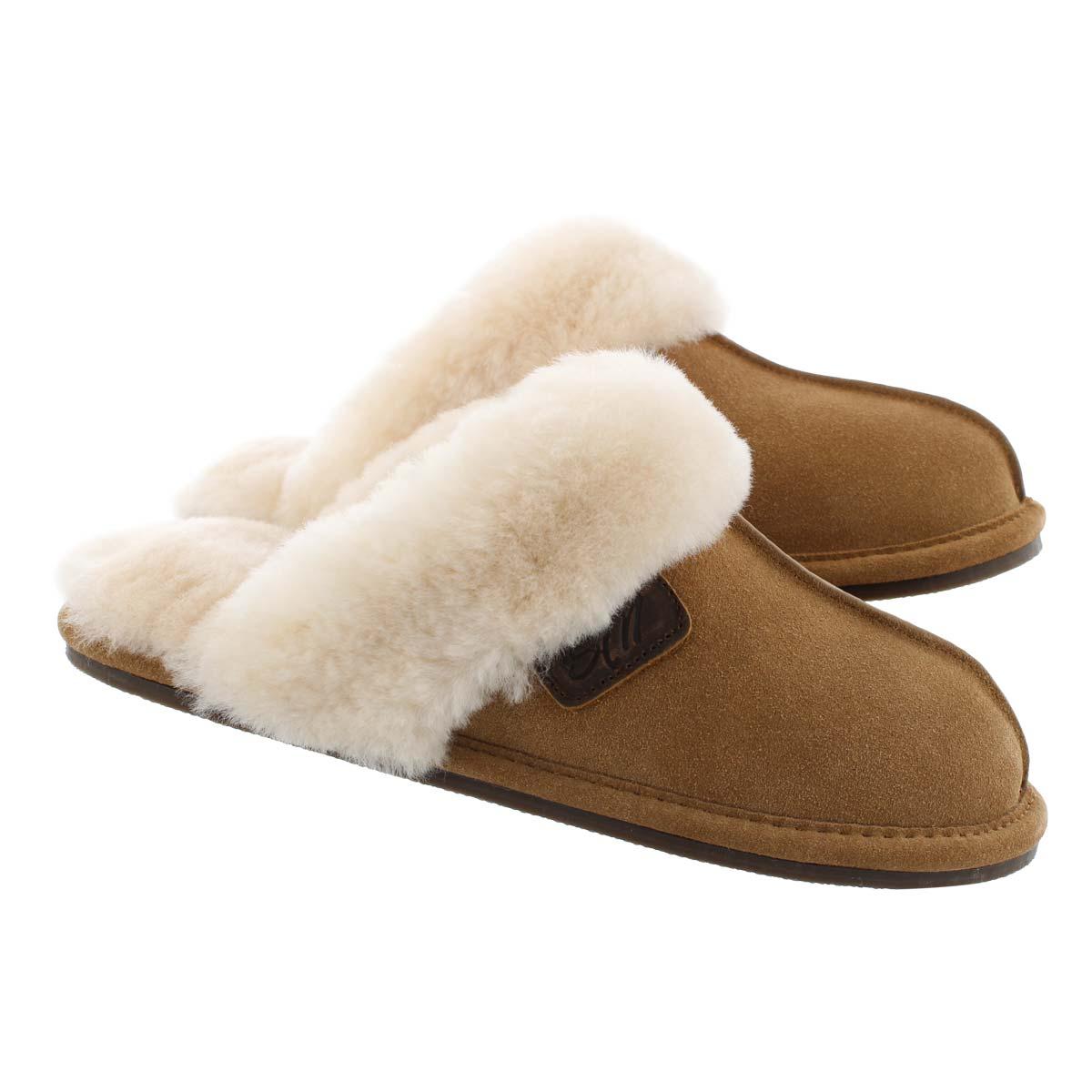 Lds Rihana chesnut open back slipper