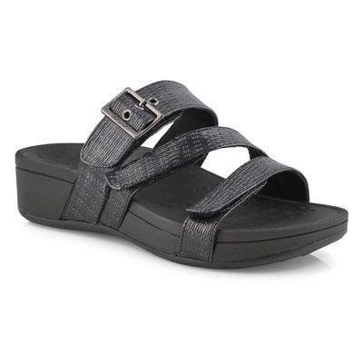 Lds Rio black slide sandals