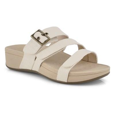Lds Rio cream slide sandals