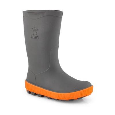 Bys Riptide charcoal/flme wtpf rain boot