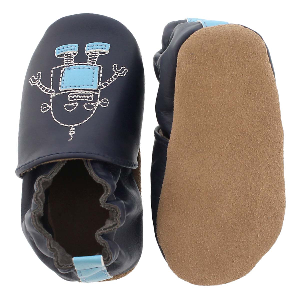 Inf Robotics navy soft sole slipper