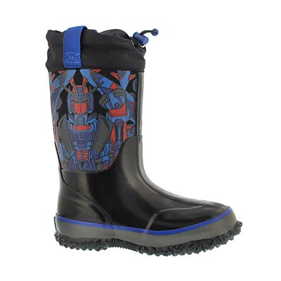 Bys Robotron blk wp pull on winter boot