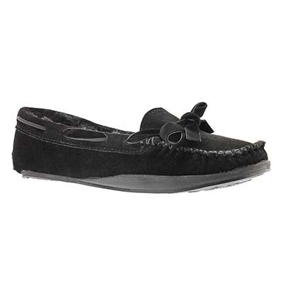 SoftMoc Women's ROCHELLE black suede moccasins