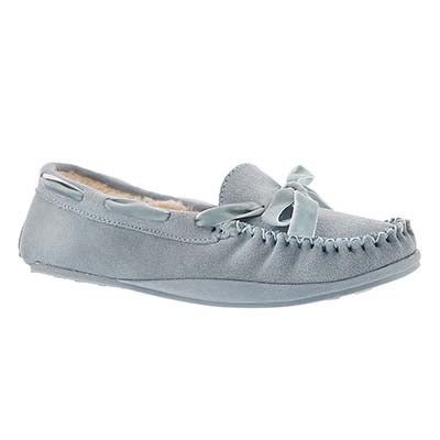 SoftMoc Women's ROCHELLE light blue suede moccasins