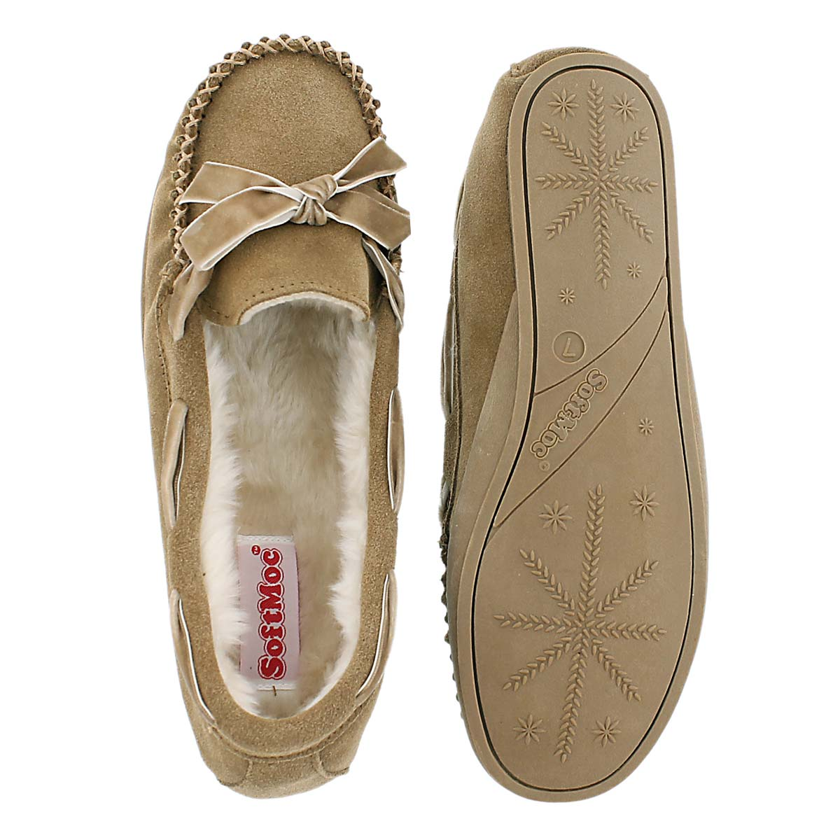 Lds Rochelle hshbrn suede moccasin