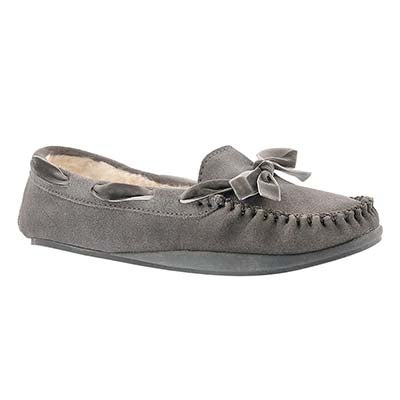 Lds Rochelle II grey suede moccasin
