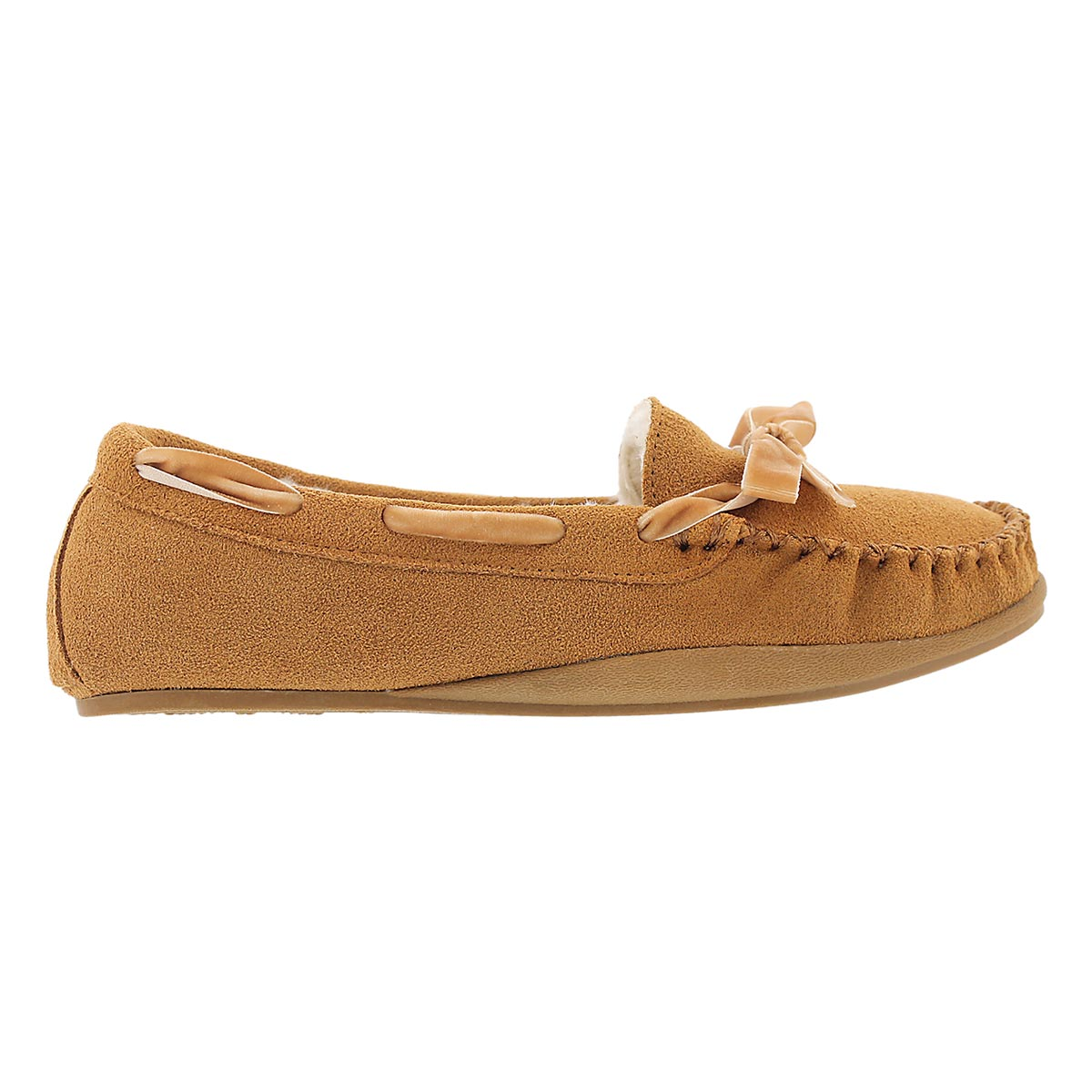 Lds Rochelle tan suede moccasin