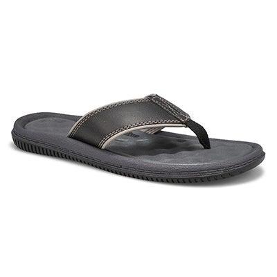 Mns Roland black casual thong sandal