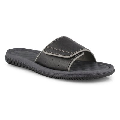 Mns Rory black casual slide sandal