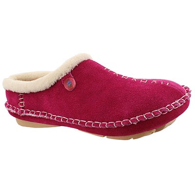 Foamtreads Women's ROSA fuchsia closed back slippers