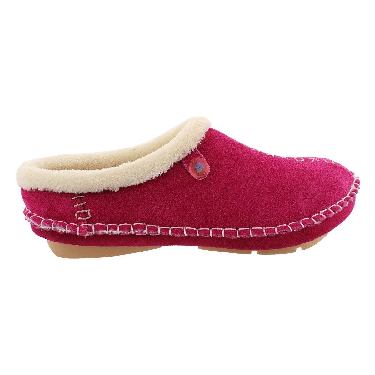 Lds Rosa fuchsia closed back slipper