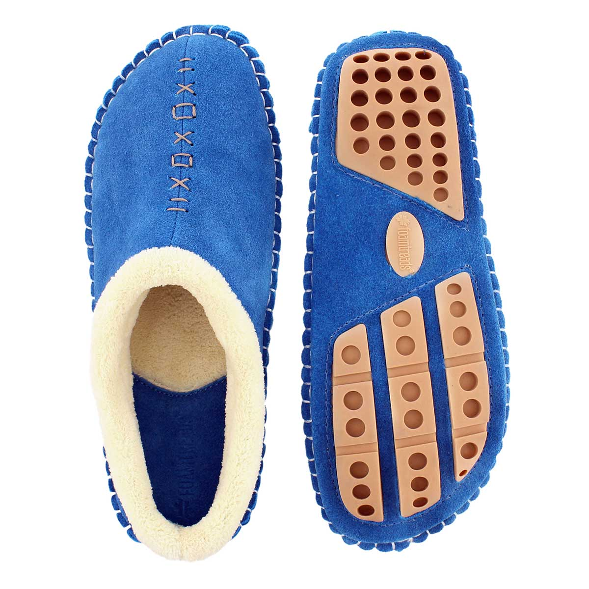 Lds Rosa sky blue closed back slipper