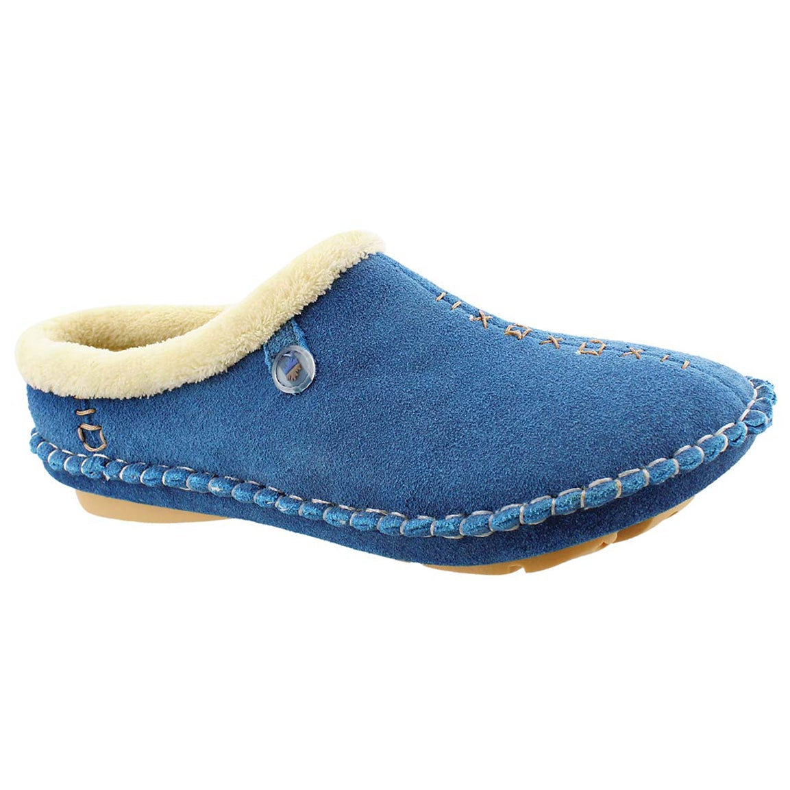 Women's ROSA sky blue closed back slippers