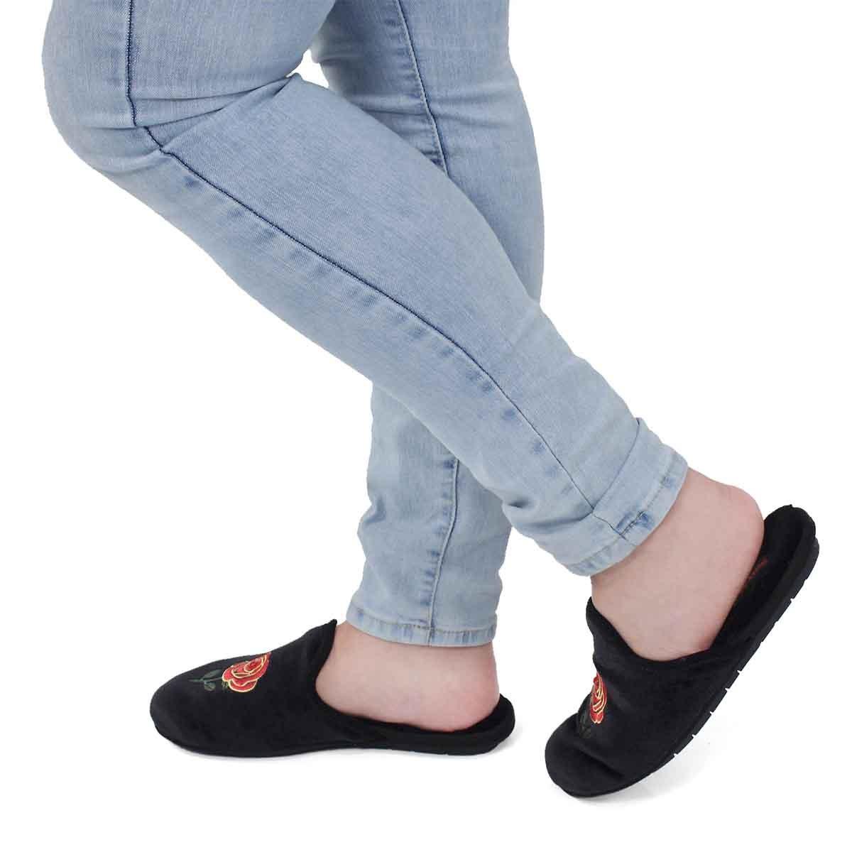 Lds Roya rose open back slipper