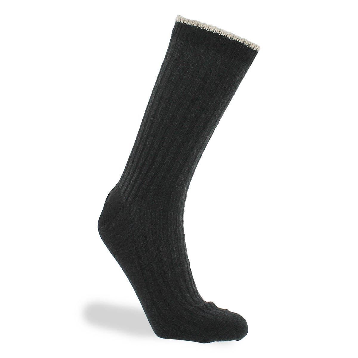 Mns 84N Basic Rib Crew black sock