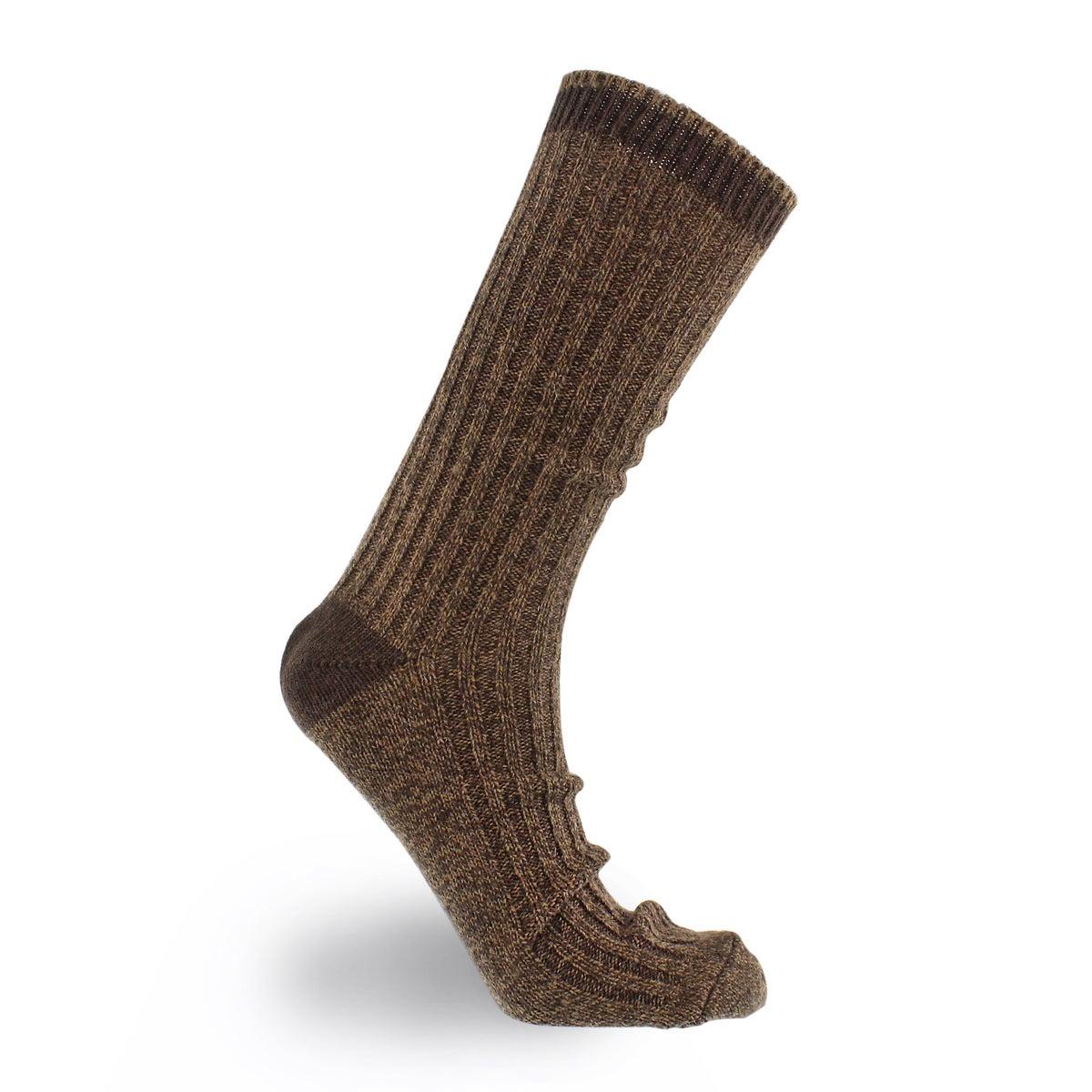 Mns 84N Basic Rib Crew cordovan sock