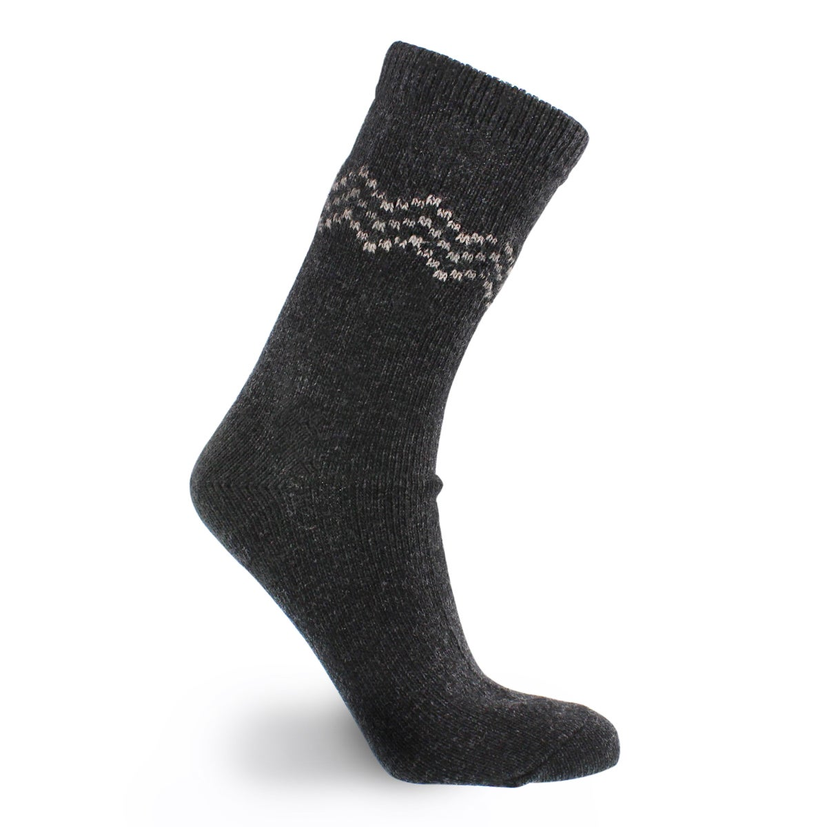 Lds 84N Chevron Crew black sock