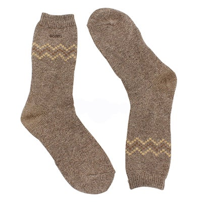 Women's 84N CHEVRON CREW pebble socks