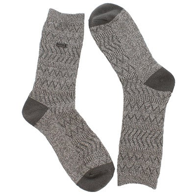 Lds Basic MerinoWool qry/wht tall sock