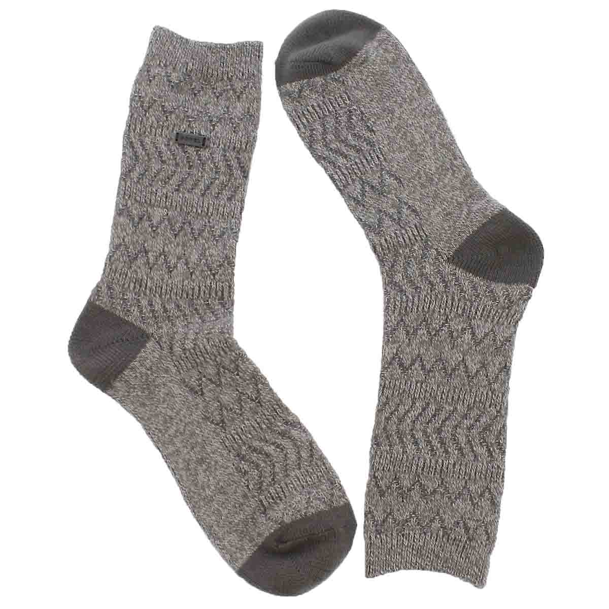 Women's BASIC MERINO WOOL quarry/wht tall socks
