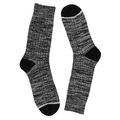 Lds Spacedye blk/stn tall sock