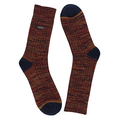 Lds Spacedye nvy/red tall sock
