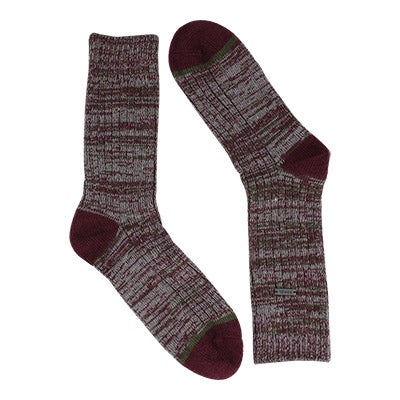Lds Spacedye wine/grey tall sock