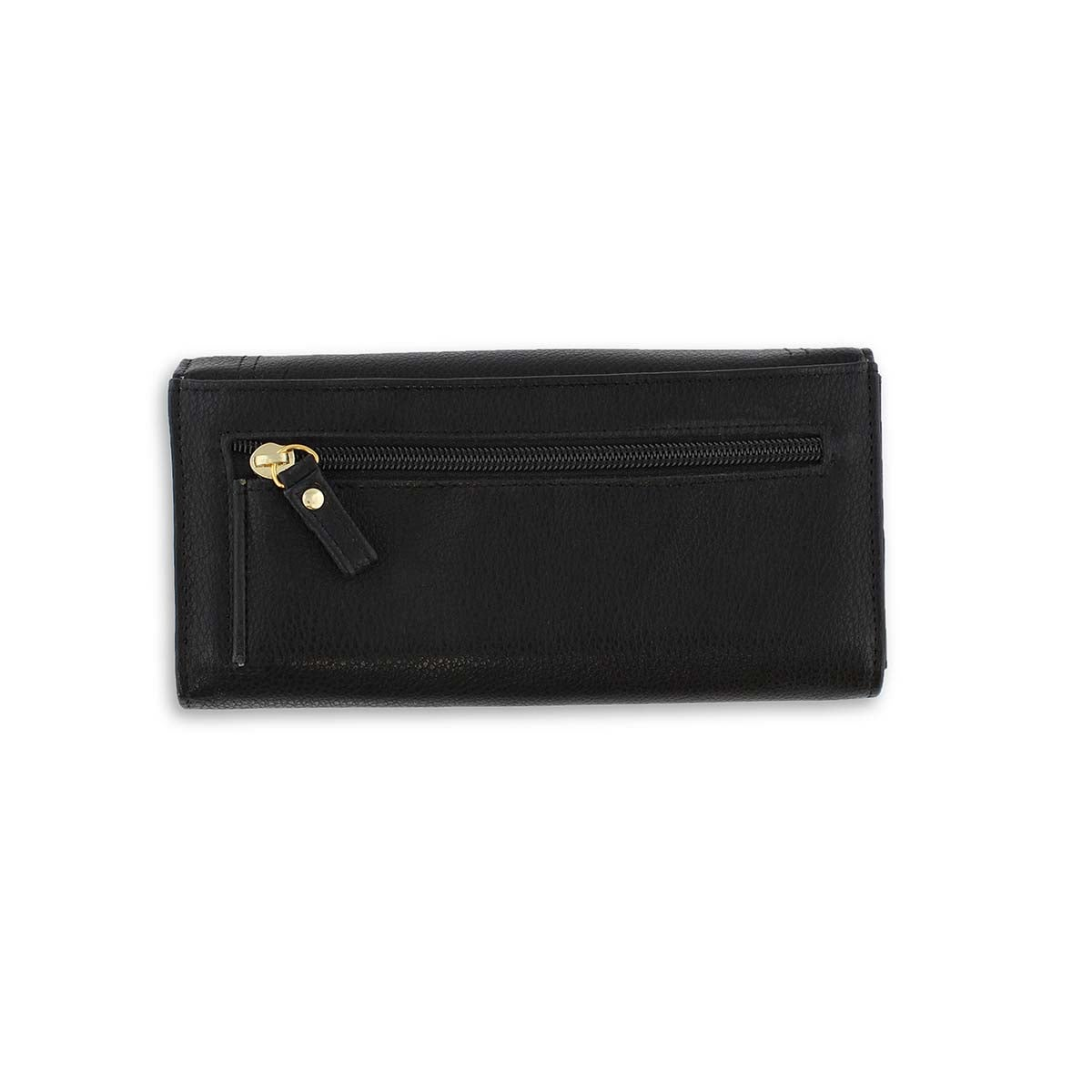 Lds Treasure Lock black trifold wallet