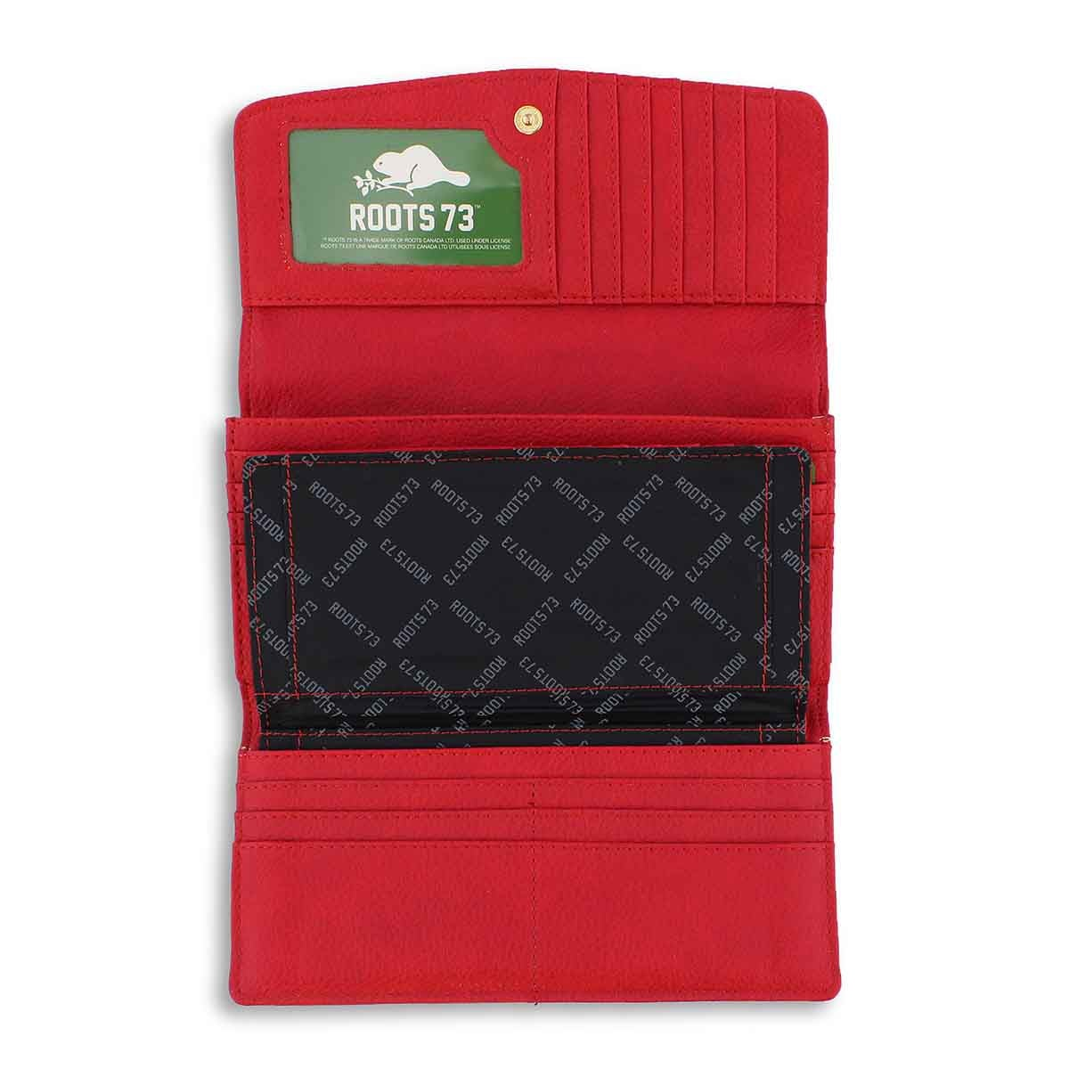 Lds Treasure Lock red trifold wallet