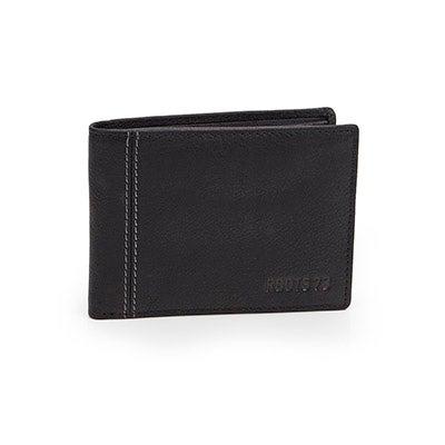 Mns Roots73 RT22654 blk folding wallet