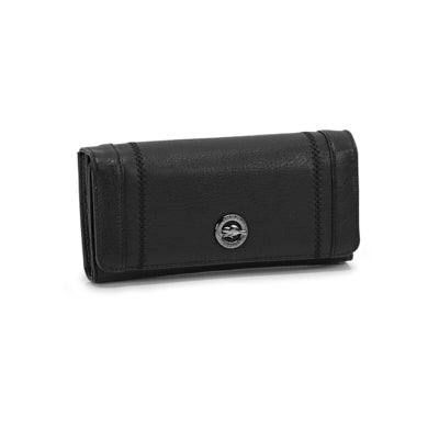 Lds Alkaline black pocket clutch