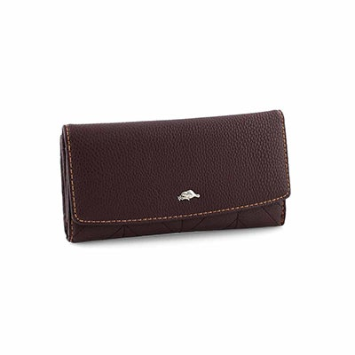 Lds Lakeland deep plum trifold wallet